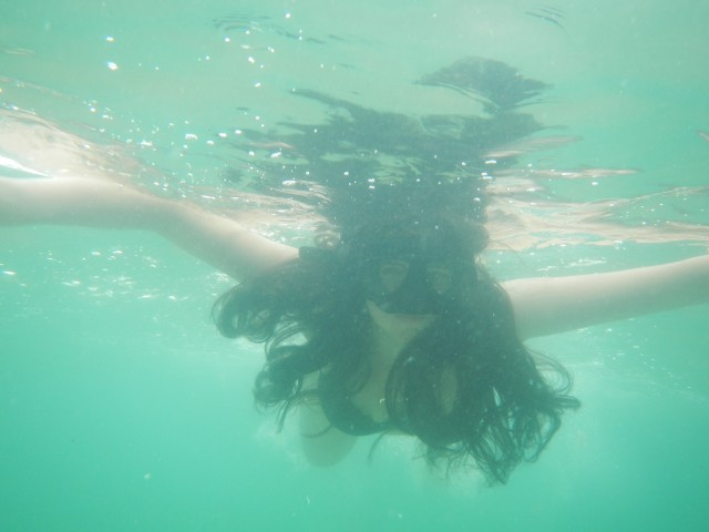 Tineke onderwater