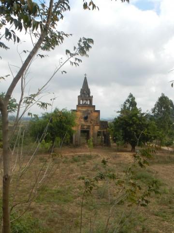 Gebombardeerde kerk