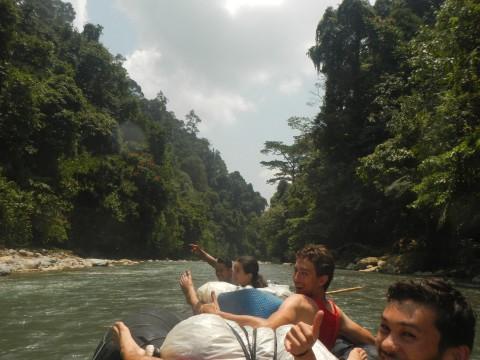 Terug raften naar Bukit Lawang