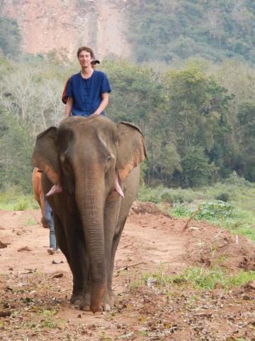Kay op de olifant
