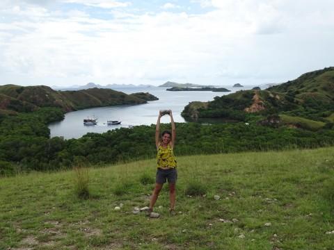 Uitzicht op Rinca eiland