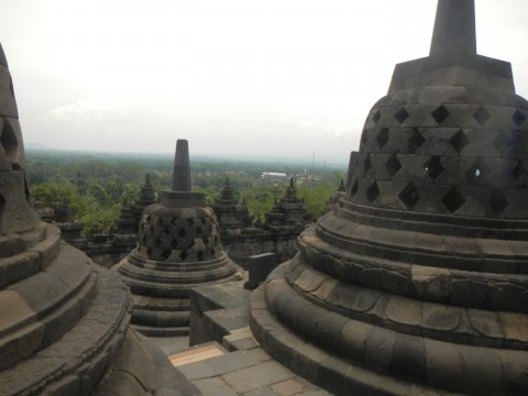 Stupa's op Borobudur
